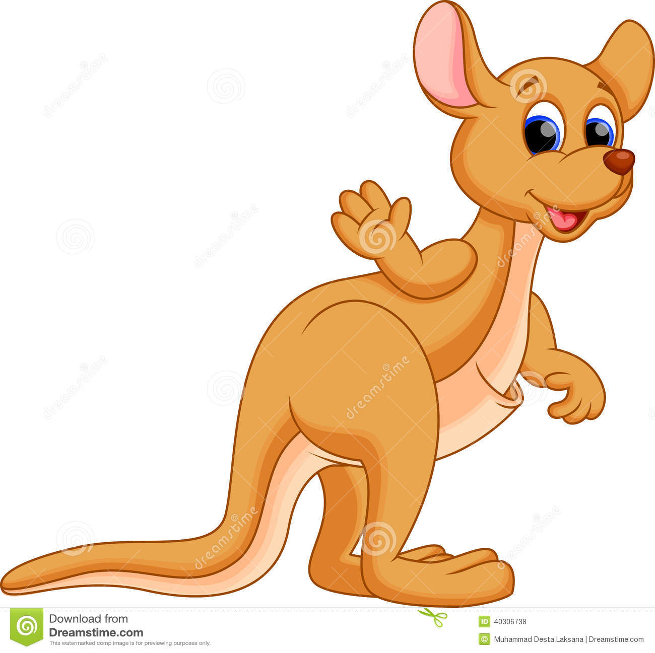 Wallaby clipart #2, Download drawings