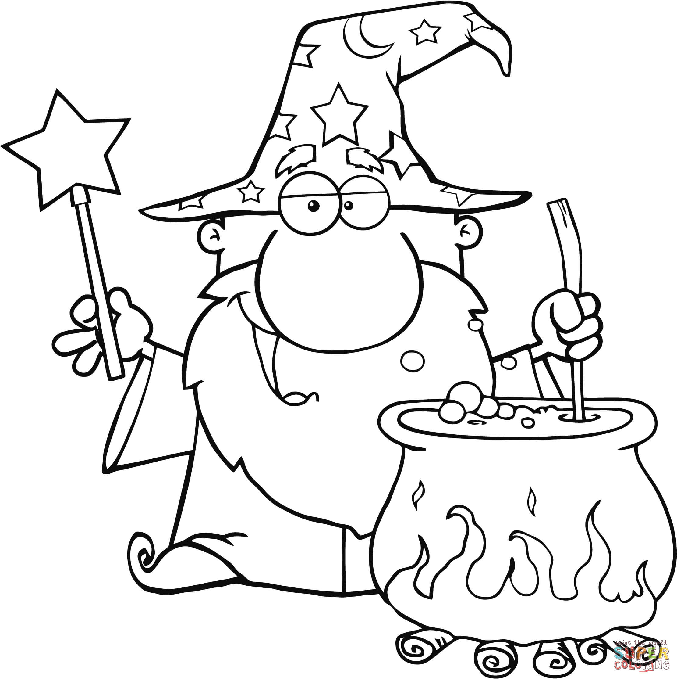Wizard coloring #19, Download drawings