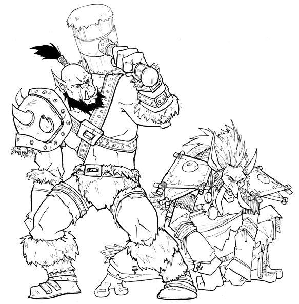 Warcraft coloring #7, Download drawings