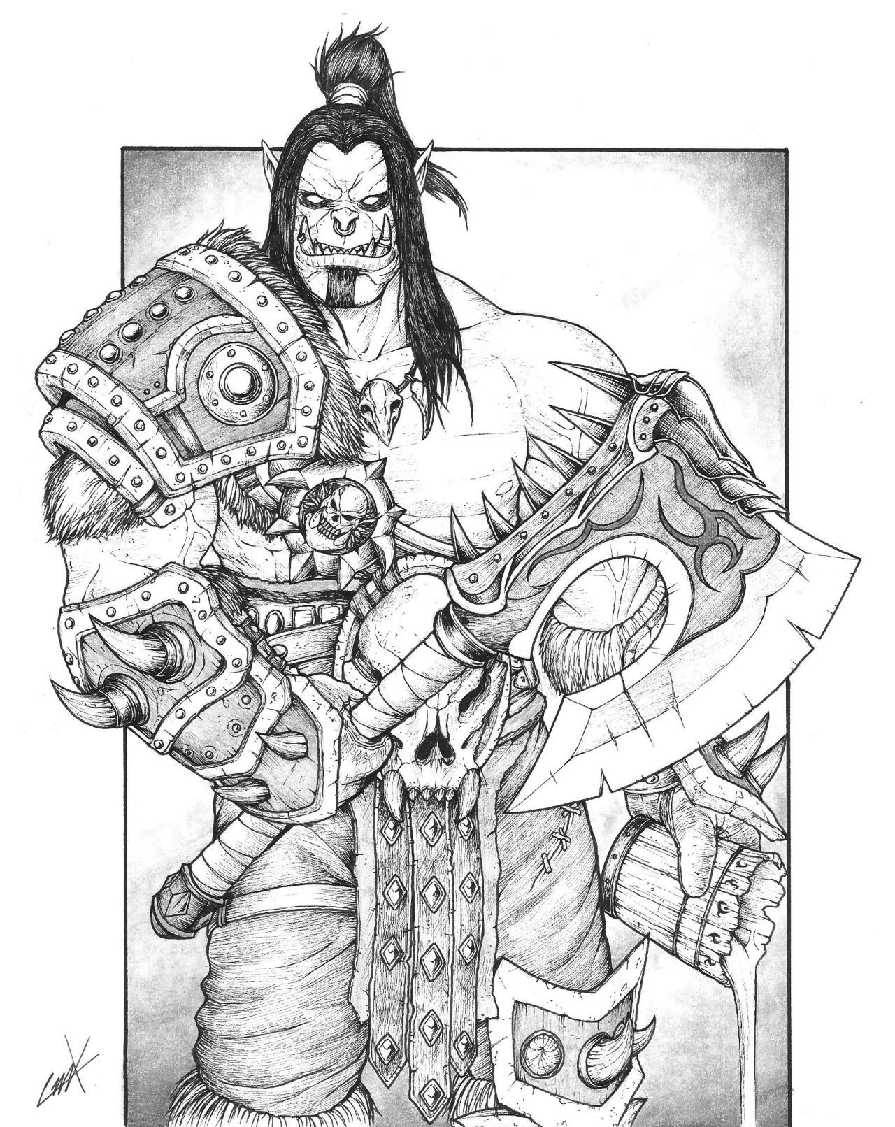 Warlord coloring #7, Download drawings