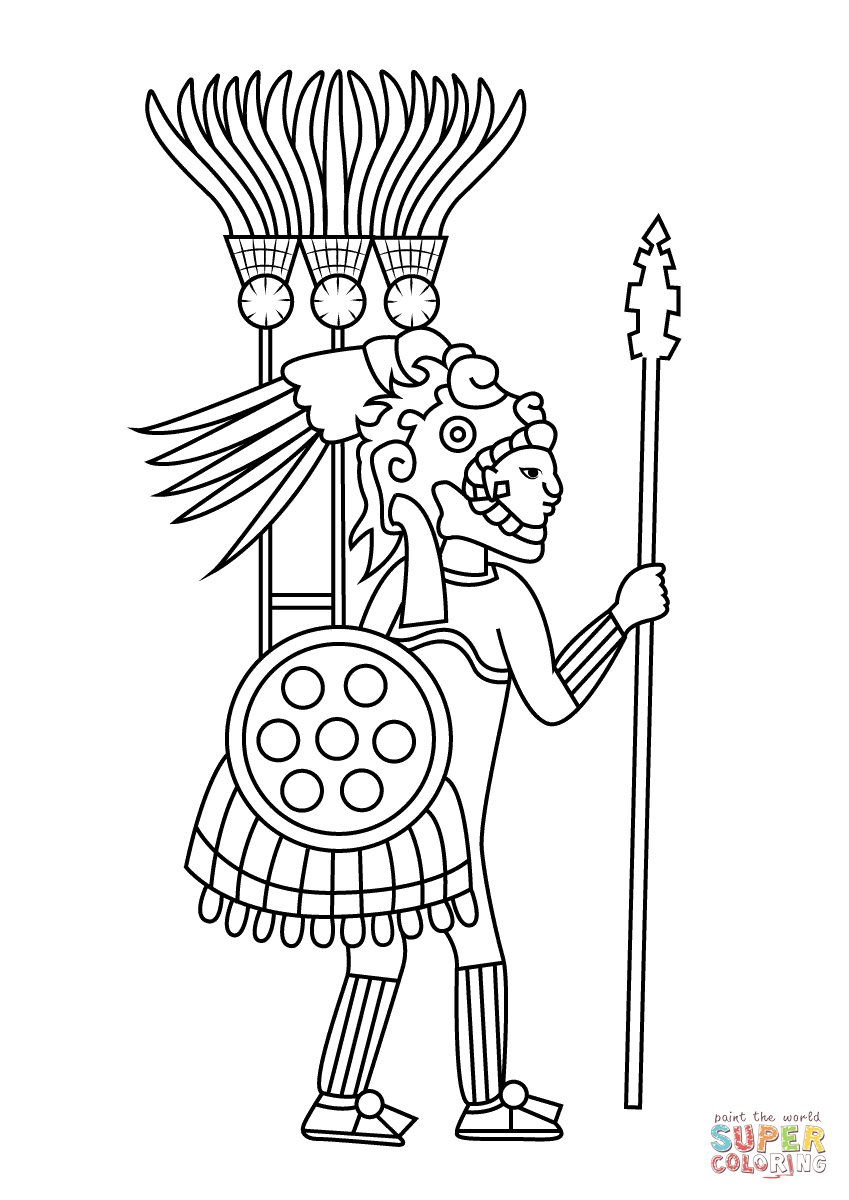 Aztec Civilization coloring #8, Download drawings