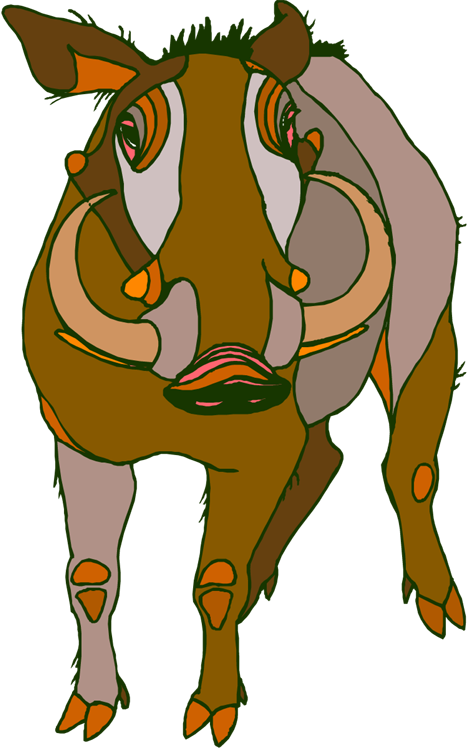 Warthog clipart #2, Download drawings
