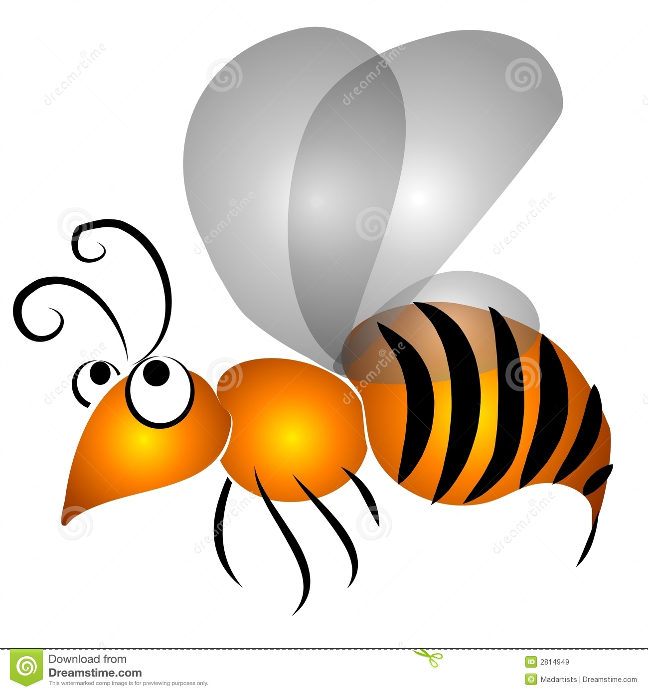 Wasp clipart #1, Download drawings