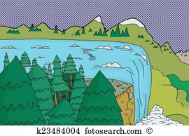 Wasserfall clipart #4, Download drawings