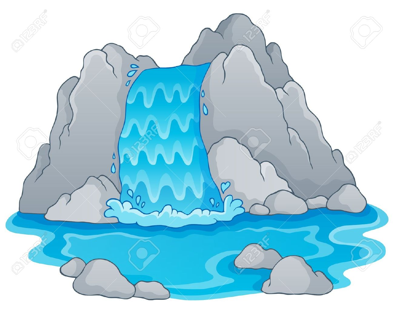Waterfall clipart #6, Download drawings