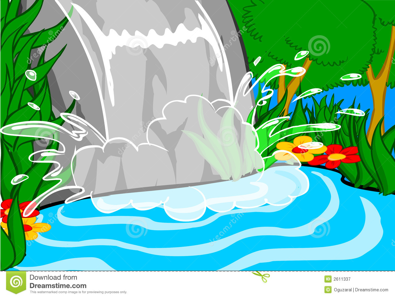 Waterfall clipart #12, Download drawings