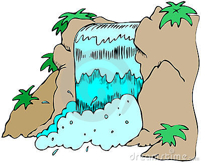 Waterfall clipart #5, Download drawings