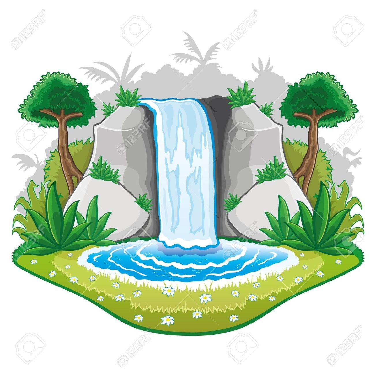 Waterfall clipart #16, Download drawings