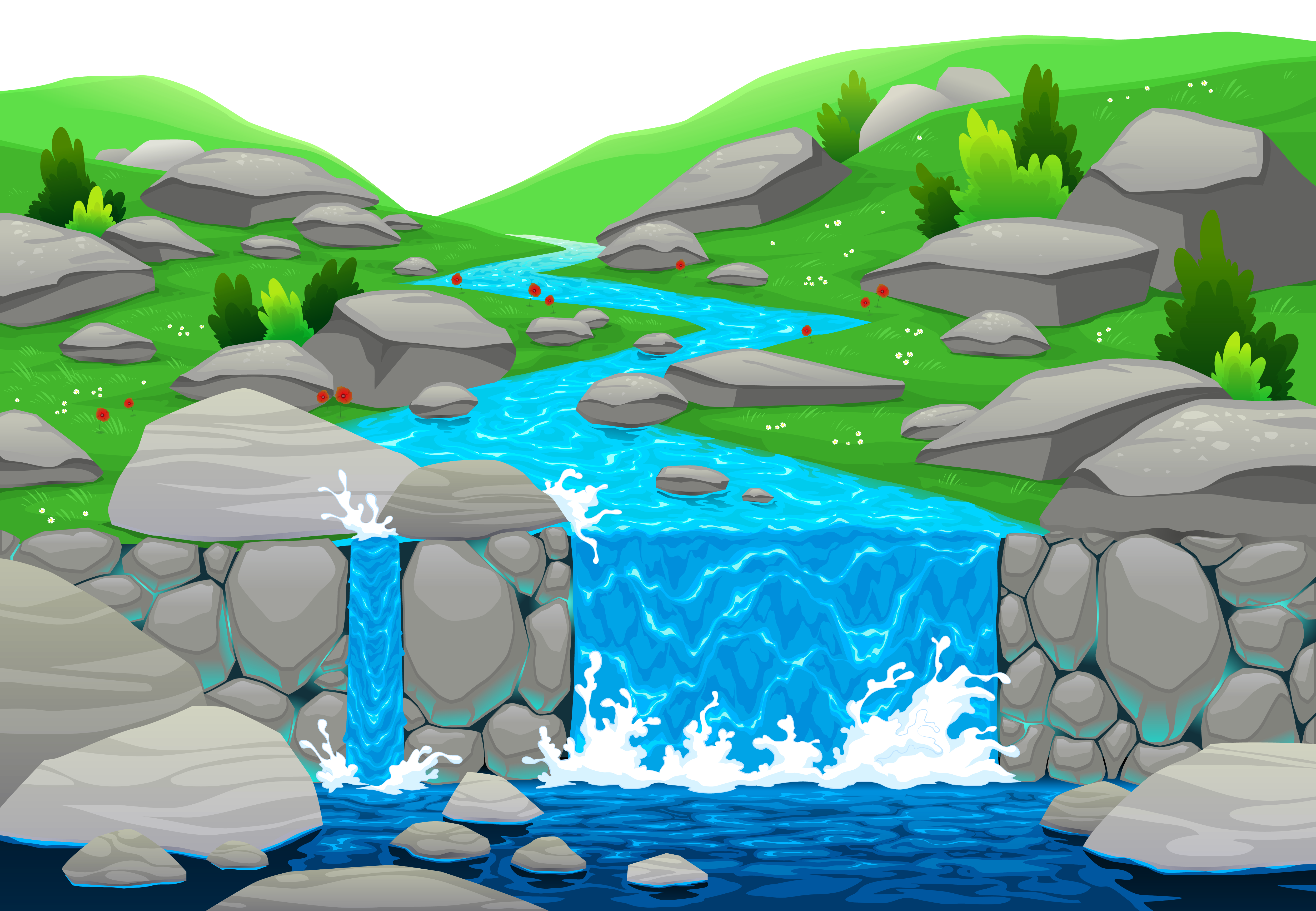 Waterfall clipart #1, Download drawings