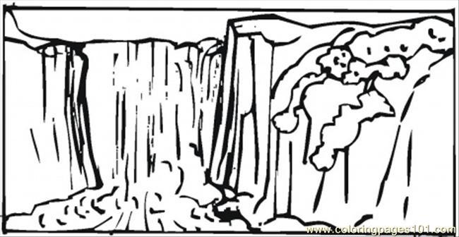 Waterfall coloring #11, Download drawings