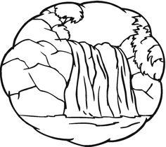 Waterfall coloring #15, Download drawings