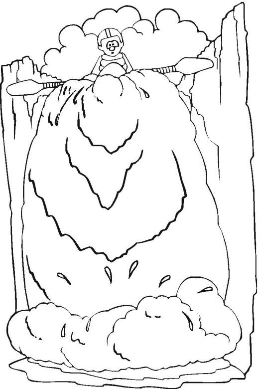 Waterfall coloring #3, Download drawings