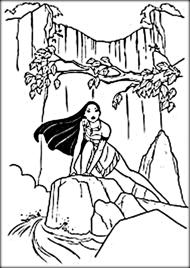 Waterfall coloring #5, Download drawings