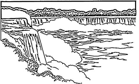 Waterfall coloring #10, Download drawings