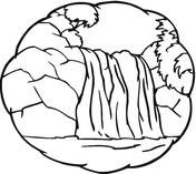 Waterfall coloring #17, Download drawings