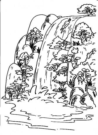 Waterfall coloring #19, Download drawings