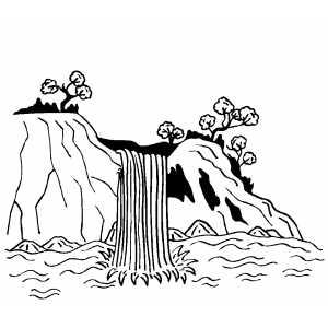 Waterfall coloring #9, Download drawings