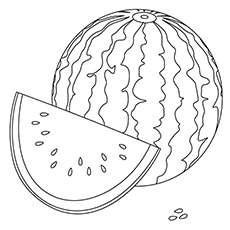 Watermelon coloring #7, Download drawings