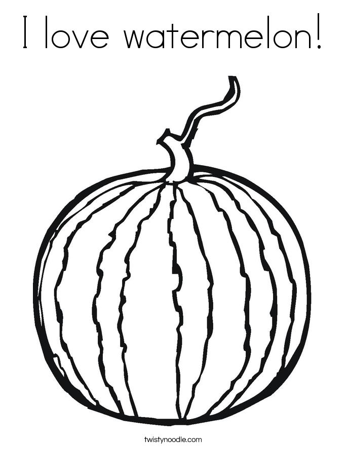 Watermelon coloring #14, Download drawings