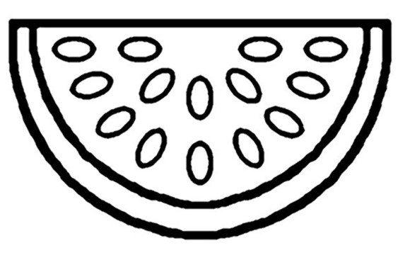Watermelon coloring #13, Download drawings