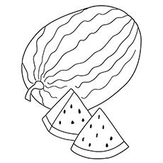 Watermelon coloring #1, Download drawings