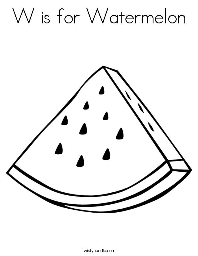 Watermelon coloring #20, Download drawings