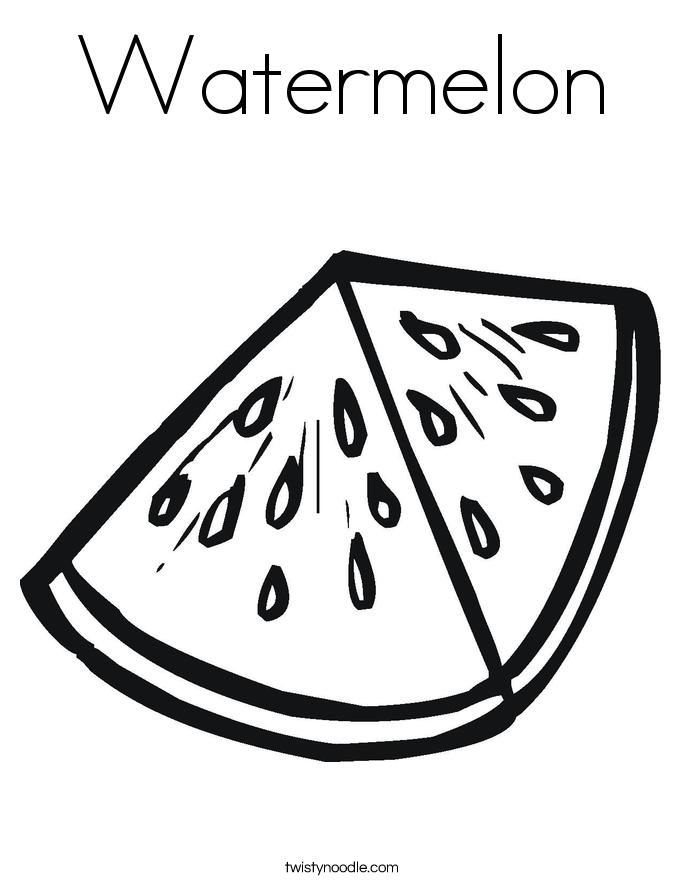 Watermelon coloring #19, Download drawings
