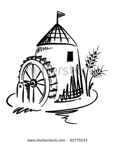 Watermill coloring #13, Download drawings
