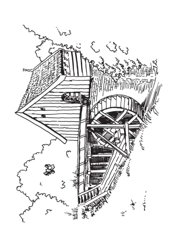 Watermill coloring #11, Download drawings
