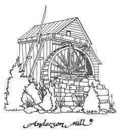 Watermill coloring #18, Download drawings