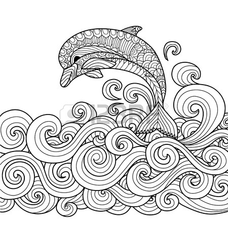 Wave coloring #2, Download drawings