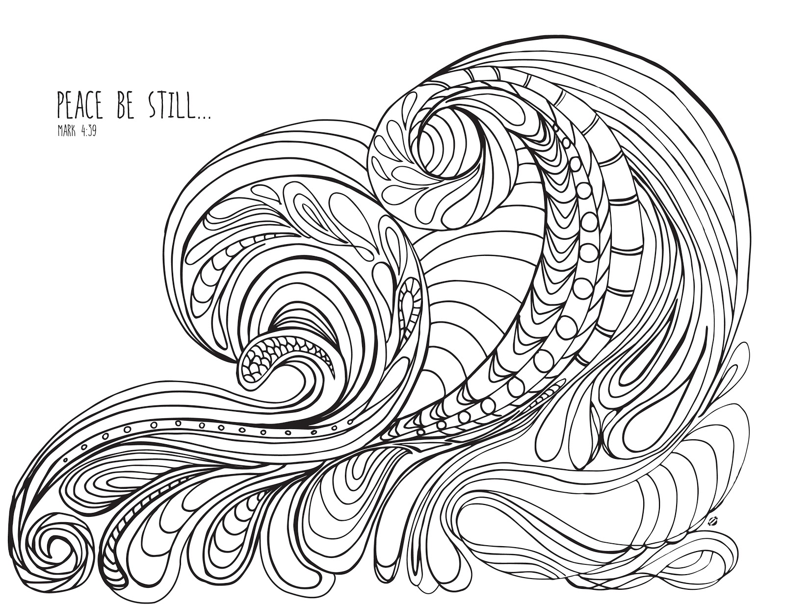 Wave coloring #15, Download drawings