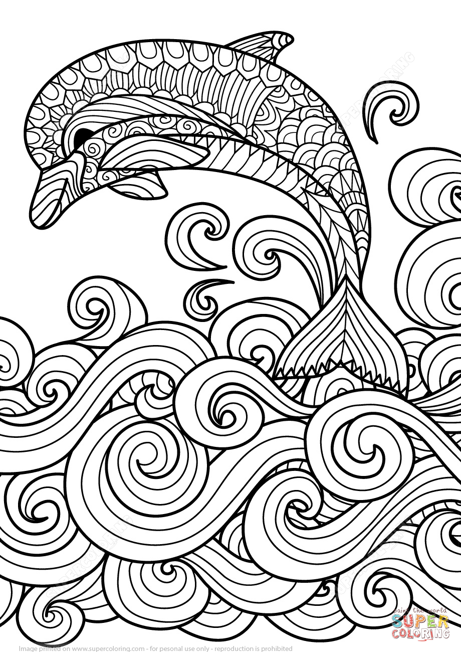 Wave coloring #8, Download drawings