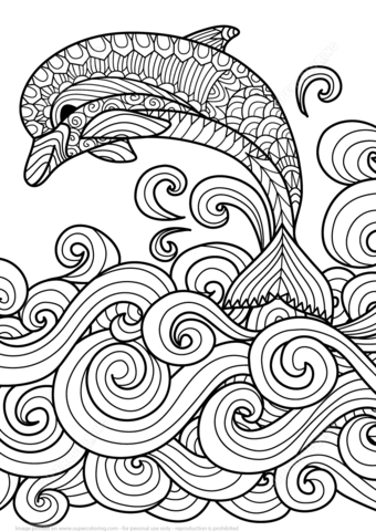 Wave coloring #9, Download drawings