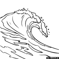 Wave coloring #18, Download drawings
