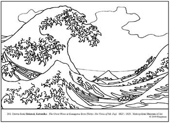 Wave coloring #17, Download drawings