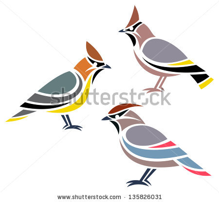 Waxwing clipart #16, Download drawings