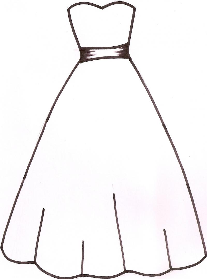 Wedding Dress coloring #14, Download drawings