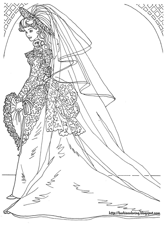 Wedding Dress coloring #6, Download drawings
