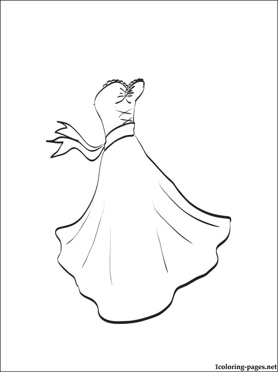 Wedding Dress coloring #4, Download drawings