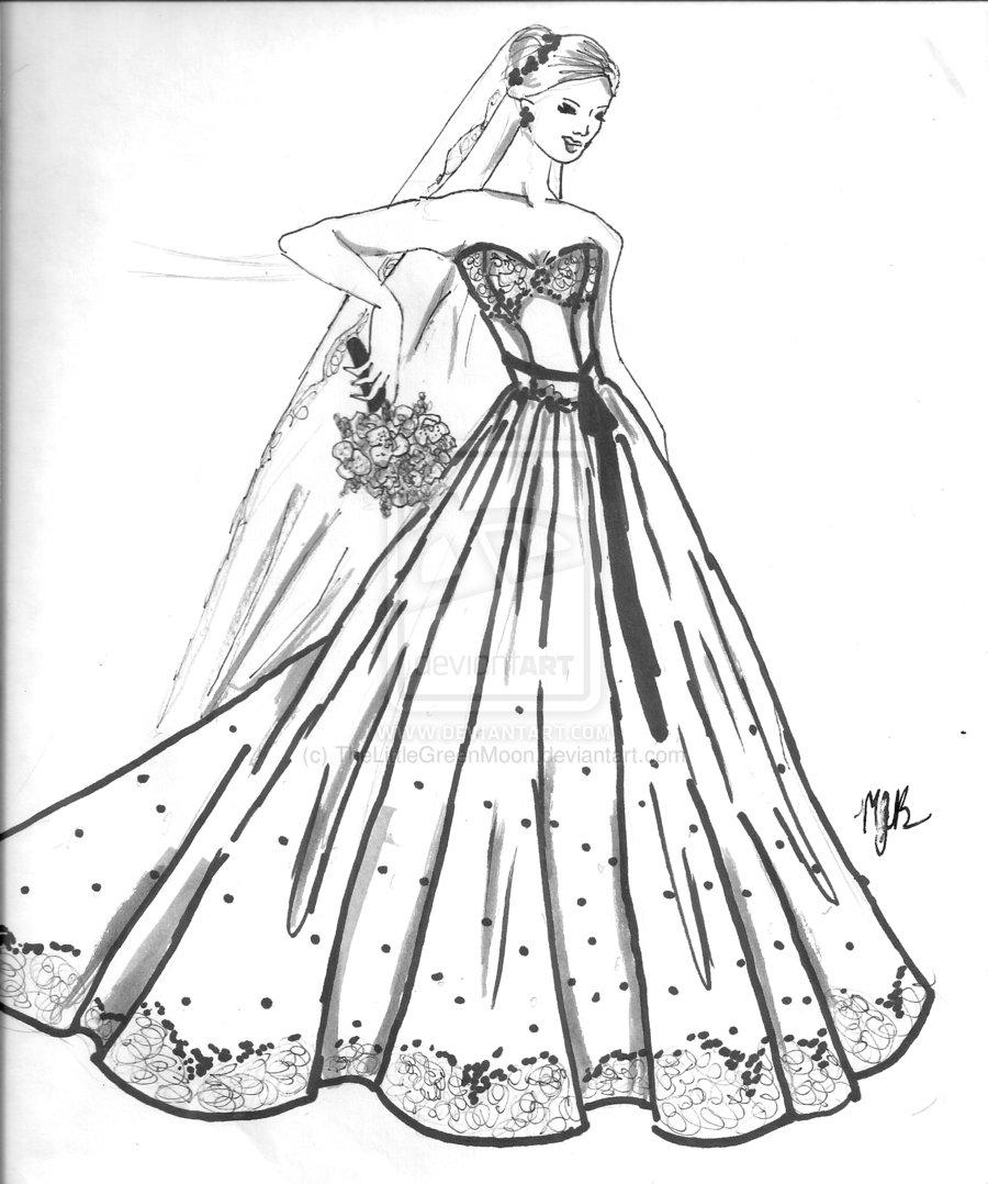 Wedding Dress coloring #13, Download drawings