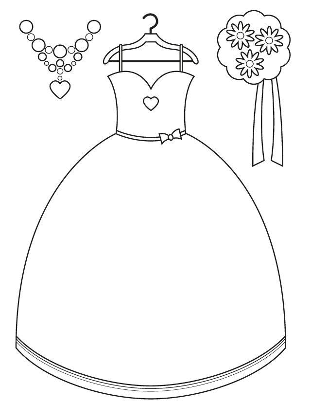 Wedding Dress coloring #12, Download drawings