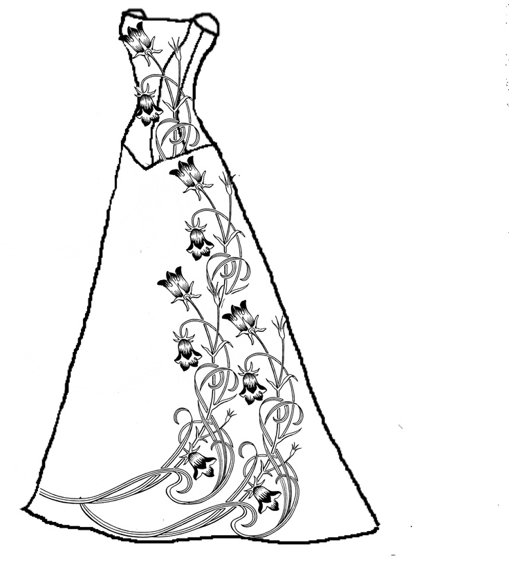 Wedding Dress coloring #3, Download drawings