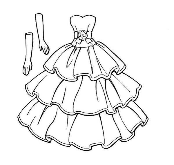 Wedding Dress coloring #16, Download drawings