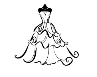 White Dress svg #14, Download drawings