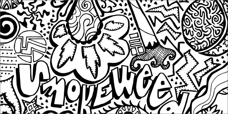Weed coloring download weed coloring for Coloring pages weed