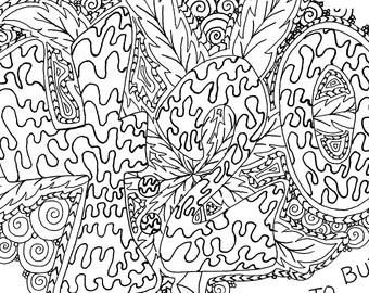 Weed coloring #13, Download drawings