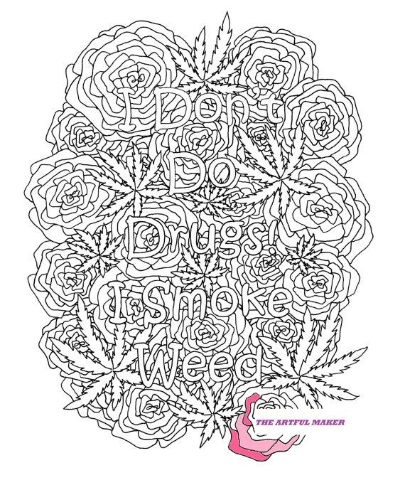 Weed coloring #12, Download drawings