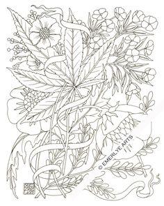 Weed coloring #9, Download drawings