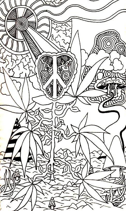 Weed coloring #3, Download drawings